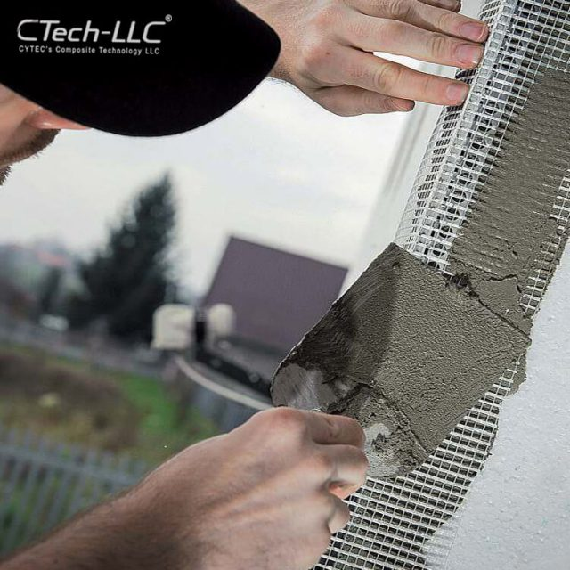 protectting-building-corners-from-damage-by-applying-fiberglass-mesh-CTech-LLC